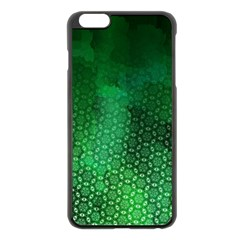 Ombre Green Abstract Forest Apple Iphone 6 Plus/6s Plus Black Enamel Case by DanaeStudio