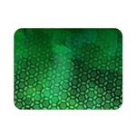 Ombre Green Abstract Forest Double Sided Flano Blanket (Mini)  35 x27 Blanket Back