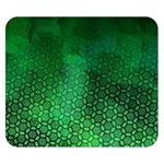 Ombre Green Abstract Forest Double Sided Flano Blanket (Small)  50 x40 Blanket Back