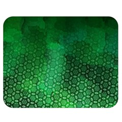 Ombre Green Abstract Forest Double Sided Flano Blanket (medium)