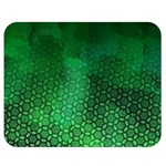 Ombre Green Abstract Forest Double Sided Flano Blanket (Medium)  60 x50 Blanket Front