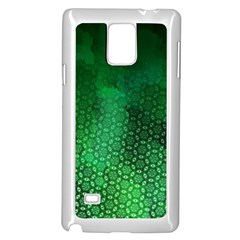 Ombre Green Abstract Forest Samsung Galaxy Note 4 Case (white) by DanaeStudio