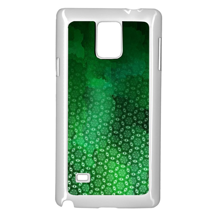 Ombre Green Abstract Forest Samsung Galaxy Note 4 Case (White)
