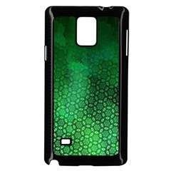 Ombre Green Abstract Forest Samsung Galaxy Note 4 Case (black) by DanaeStudio