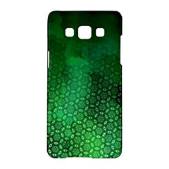 Ombre Green Abstract Forest Samsung Galaxy A5 Hardshell Case  by DanaeStudio