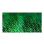 Ombre Green Abstract Forest Satin Wrap Front