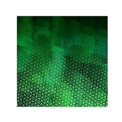 Ombre Green Abstract Forest Small Satin Scarf (square)