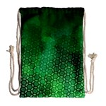 Ombre Green Abstract Forest Drawstring Bag (Large) Back