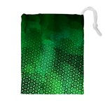 Ombre Green Abstract Forest Drawstring Pouches (Extra Large) Front
