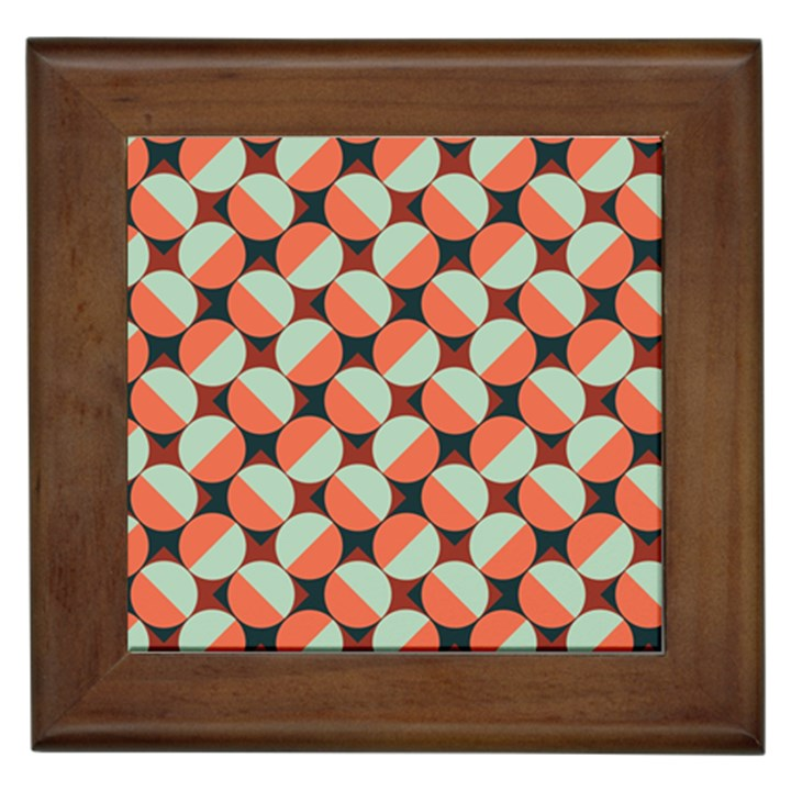 Modernist Geometric Tiles Framed Tiles