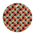Modernist Geometric Tiles Ornament (Round)