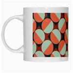 Modernist Geometric Tiles White Mugs Left