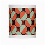Modernist Geometric Tiles White Mugs Center