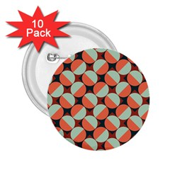 Modernist Geometric Tiles 2 25  Buttons (10 Pack)