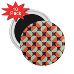 Modernist Geometric Tiles 2.25  Magnets (10 pack)