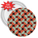 Modernist Geometric Tiles 3  Buttons (100 pack)