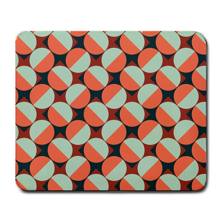 Modernist Geometric Tiles Large Mousepads