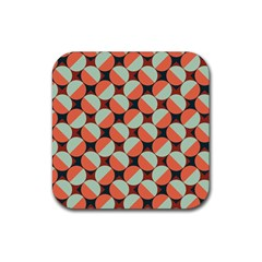 Modernist Geometric Tiles Rubber Coaster (square)  by DanaeStudio