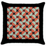Modernist Geometric Tiles Throw Pillow Case (Black) Front