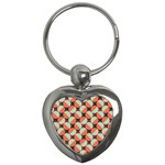 Modernist Geometric Tiles Key Chains (Heart)