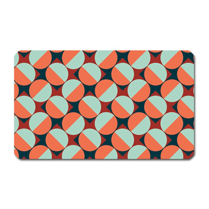 Modernist Geometric Tiles Magnet (Rectangular)