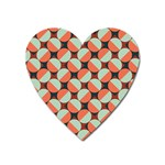 Modernist Geometric Tiles Heart Magnet