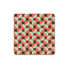 Modernist Geometric Tiles Square Magnet