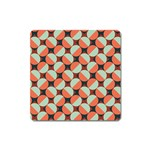 Modernist Geometric Tiles Square Magnet Front