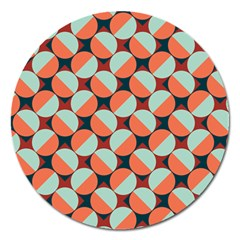 Modernist Geometric Tiles Magnet 5  (round) by DanaeStudio