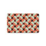 Modernist Geometric Tiles Magnet (Name Card) Front