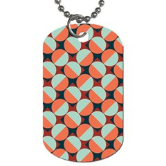 Modernist Geometric Tiles Dog Tag (two Sides) by DanaeStudio