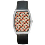 Modernist Geometric Tiles Barrel Style Metal Watch