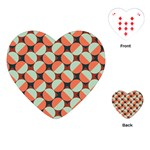 Modernist Geometric Tiles Playing Cards (Heart)  Front