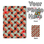 Modernist Geometric Tiles Playing Cards 54 Designs  Front - Heart4