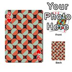 Modernist Geometric Tiles Playing Cards 54 Designs  Front - Heart9