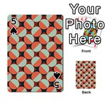 Modernist Geometric Tiles Playing Cards 54 Designs  Front - Spade5