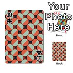 Modernist Geometric Tiles Playing Cards 54 Designs  Front - Club10