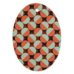 Modernist Geometric Tiles Oval Ornament (Two Sides) Front