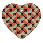 Modernist Geometric Tiles Heart Ornament (2 Sides) Back