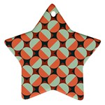 Modernist Geometric Tiles Star Ornament (Two Sides)  Back