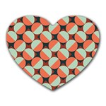 Modernist Geometric Tiles Heart Mousepads