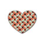 Modernist Geometric Tiles Heart Coaster (4 pack)