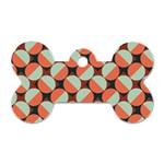 Modernist Geometric Tiles Dog Tag Bone (Two Sides) Back