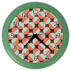 Modernist Geometric Tiles Color Wall Clocks