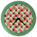 Modernist Geometric Tiles Color Wall Clocks