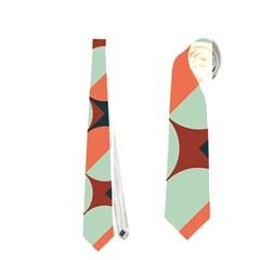 Modernist Geometric Tiles Neckties (One Side)