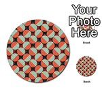 Modernist Geometric Tiles Multi-purpose Cards (Round)  Back 9