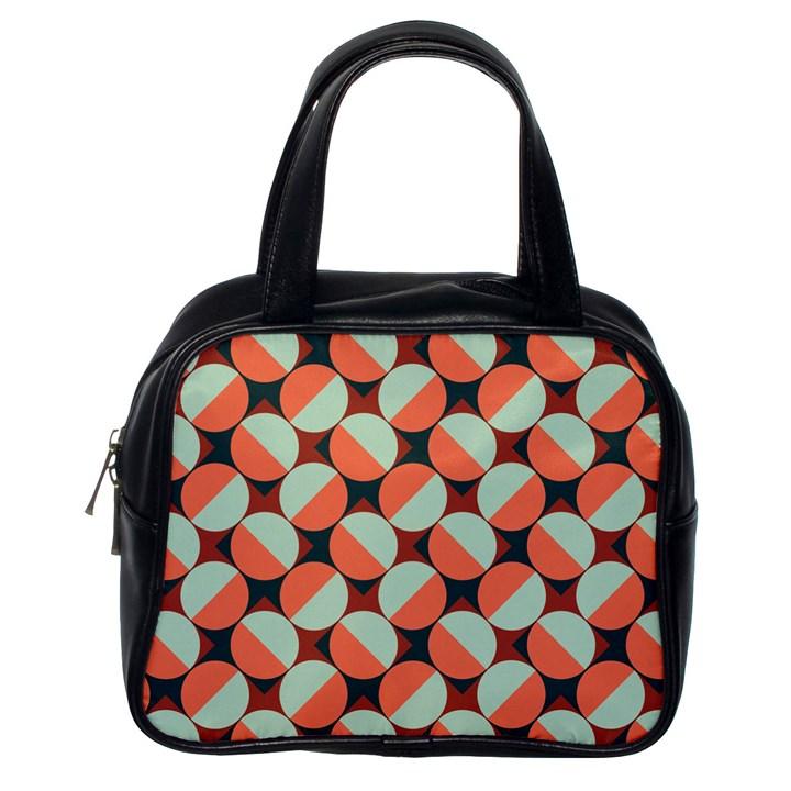 Modernist Geometric Tiles Classic Handbags (One Side)