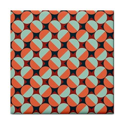 Modernist Geometric Tiles Face Towel by DanaeStudio
