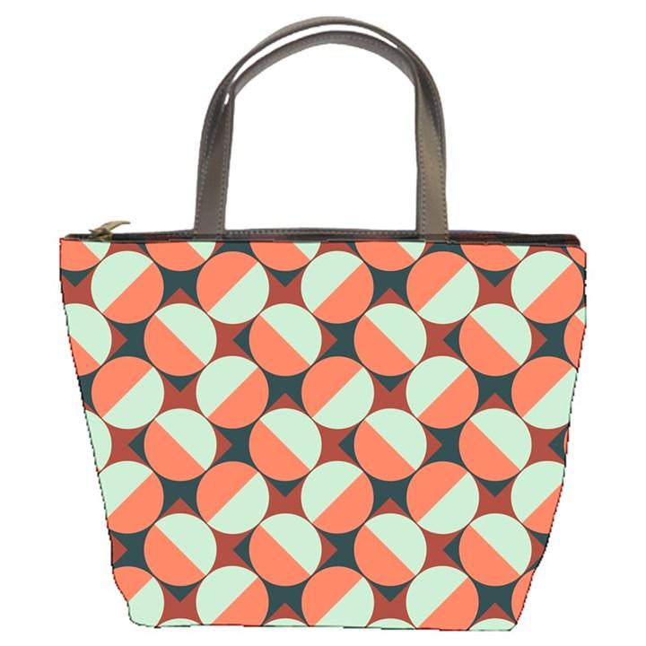 Modernist Geometric Tiles Bucket Bags